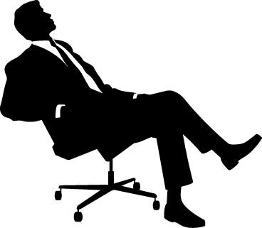 Man-Sitting-Silhouette