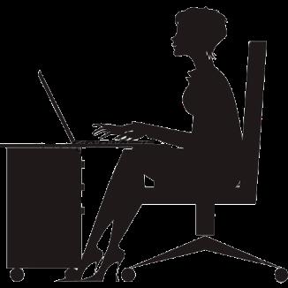 secretary-silhouette